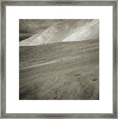 Apollo Challenger On The Moon Framed Print by Nasa/detlev Van Ravenswaay