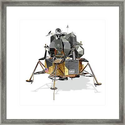 Apollo Lunar Module Framed Print by Carlos Clarivan/science Photo Library