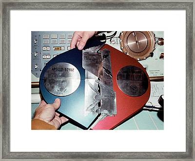 Apollo Soyuz Test Project Commemoration Framed Print by Nasa