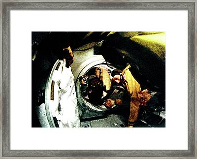 Apollo Soyuz Test Project Docking Framed Print by Nasa