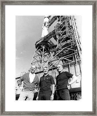 Apollo Soyuz Test Project Us Crew Framed Print by Nasa