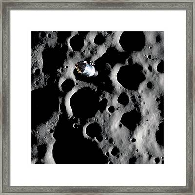 Apollo Spacecraft In Lunar Orbit Framed Print
