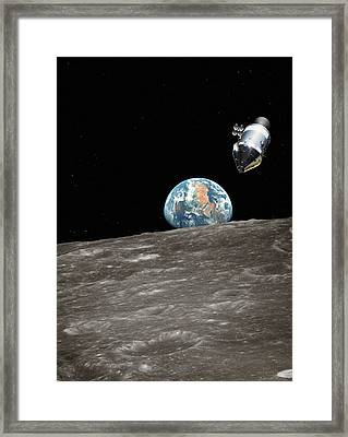 Apollo Spacecraft In Orbit Framed Print