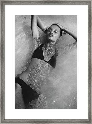 Apollonia Van Ravenstein Wearing A Catalina Framed Print