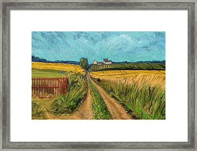 Apostelhoeve Wine Estate Maastricht Framed Print