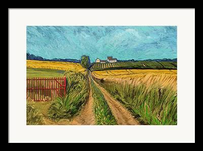 Apostelhoeve Wine Estate Wijngoed Maastricht Briex Landscape Fine Art Framed Prints