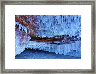 Apostle Island Ice Caves - February 2014 Framed Print by Carol Toepke