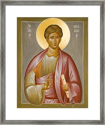 Apostle Philip Framed Print by Julia Bridget Hayes