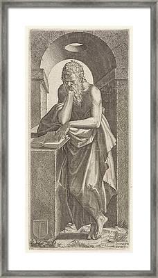 Apostle Simon The Canaanite, Lambertus Suavius Framed Print by Lambertus Suavius