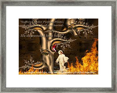 Apostle's Creed Framed Print by Robert Kernodle
