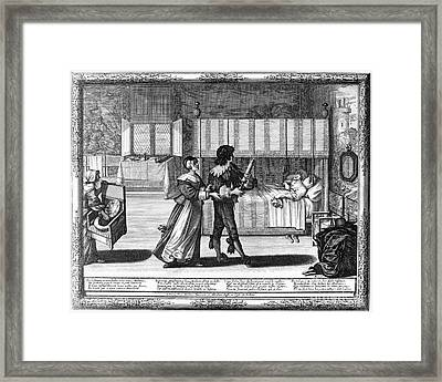 Apothecary, 17th Century Framed Print