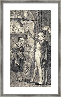 Apothecary In Romeo And Juliet, 1805 Framed Print by Science Photo Library