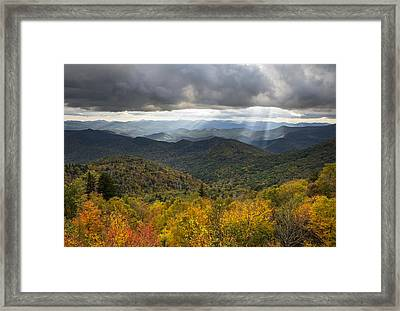 Appalachian Autumn North Carolina Fall Foliage Framed Print