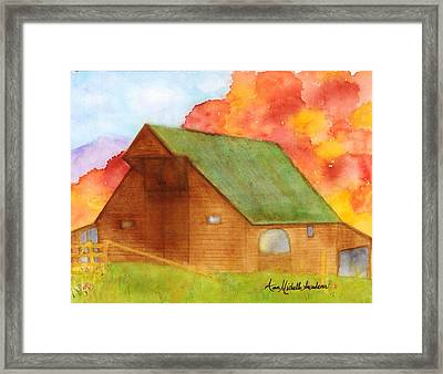 Appalachian Barn In Autumn Framed Print