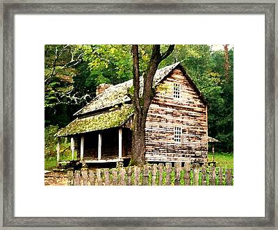 Appalachian Cabin Framed Print by Desiree Paquette