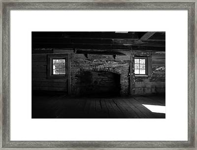 Appalachian Fireplace Framed Print by David Lee Thompson
