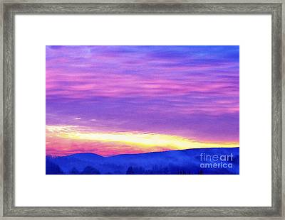 Appalachian January Sunrise Framed Print by Thomas R Fletcher