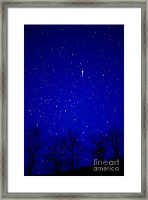 Appalachian Mountain Starry Night Framed Print by Thomas R Fletcher