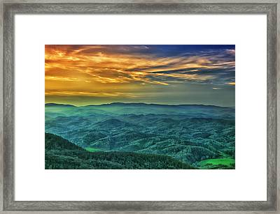 Appalachian Mountain Sunset Framed Print