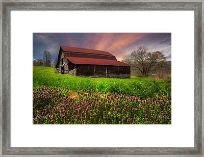 Appalachian Spring Framed Print by Debra and Dave Vanderlaan