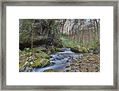 Appalachian Stream 3 Framed Print by Ryan Phillips