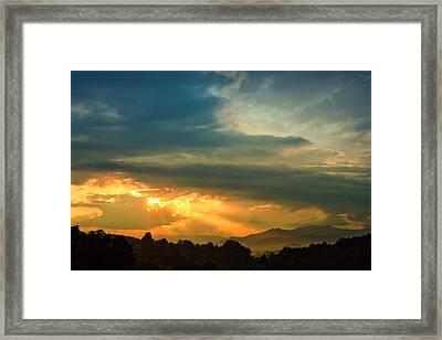 Appalachian Sunset Framed Print by William Schmid