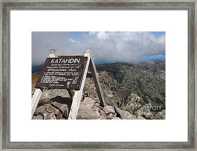 Appalachian Trail Mount Katahdin Framed Print by Glenn Gordon