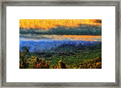Appalachian Sunrise Framed Print by Dan Sproul
