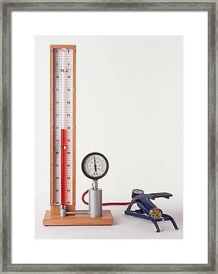 Apparatus To Measure Pressure Framed Print by Dorling Kindersley/uig