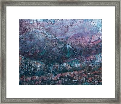 Framed Print featuring the mixed media Apparitions by Carla Woody