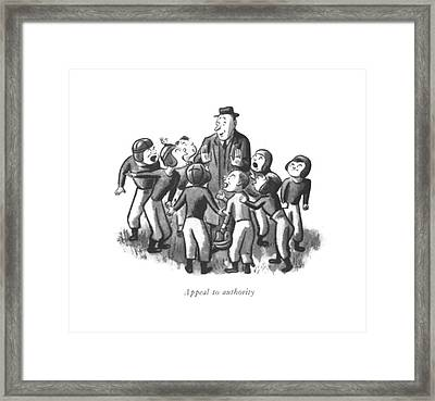 Appeal To Authority Framed Print