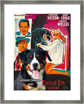 Appenzeller Sennenhund - Appenzell Cattle Dog  Art Canvas Print - Touch Of Evil Movie Poster Framed Print