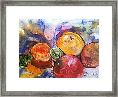 Appetite For Color Framed Print by Sherry Harradence