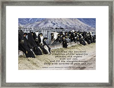 Appetites And Passions Framed Print by Janice Rae Pariza