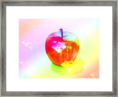 The Big Apple 4 Framed Print by Kenneth A Mc Williams