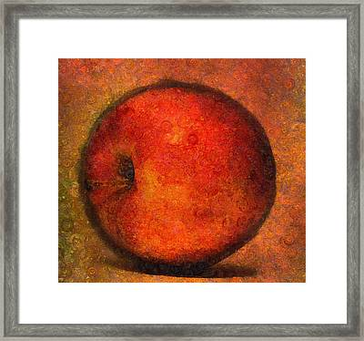 Apple A Day-abstract Realism Framed Print by Georgiana Romanovna