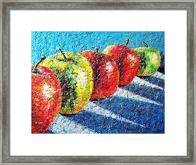 Apple A Day Framed Print by Susan DeLain