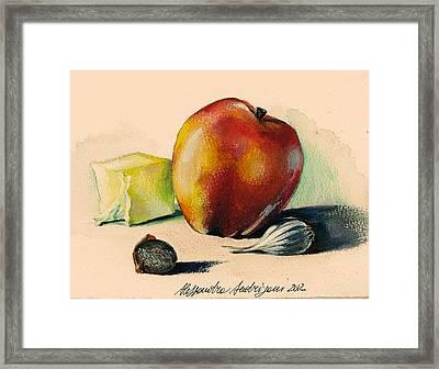 Apple Framed Print by Alessandra Andrisani