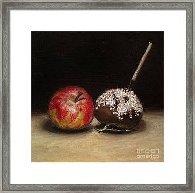 Apple And Chocolate Framed Print