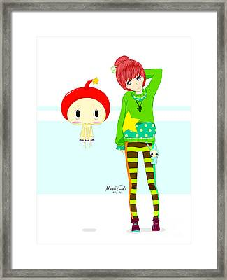 Apple And Ringo Framed Print by Morgan Temple