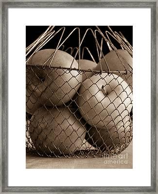 Apple Basket Still Life Framed Print by Edward Fielding