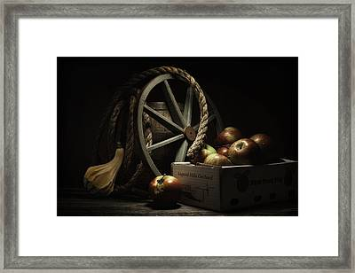 Apple Basket Still Life Framed Print by Tom Mc Nemar