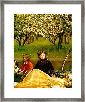 Apple Blossoms Framed Print by John Everette Millais