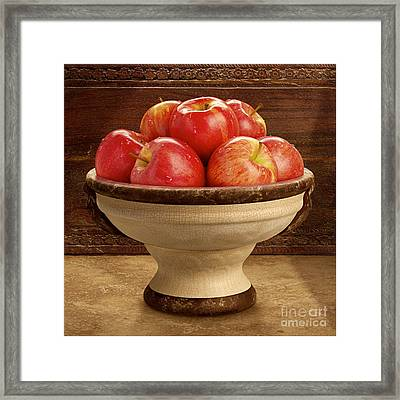 Apple Bowl Framed Print by Danny Smythe