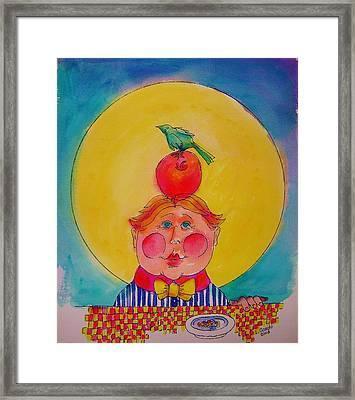 Apple Cheeks Framed Print by Lou Cicardo