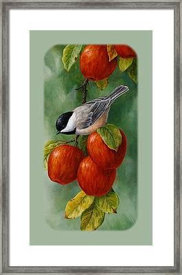 Apple Chickadee Iphone5 Case V1 Framed Print