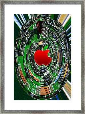 Apple Computer Abstract Framed Print by Sandi OReilly