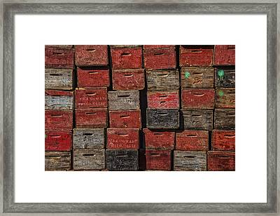 Apple Crates Framed Print by Garry Gay