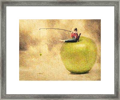 Apple Dream Framed Print by Taylan Apukovska