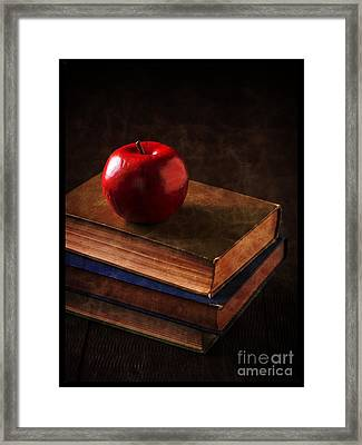 Apple For Teacher Framed Print by Edward Fielding